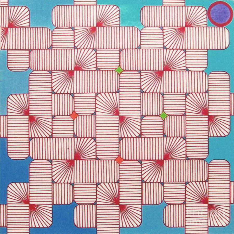 Artist Drawing - Rfb1006 Variation IIi Diagonal by Robert F Battles