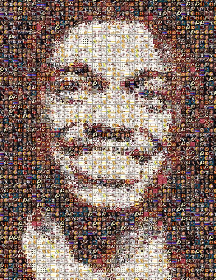 Rg3 Painting - Rg3 Redskins History Mosaic by Paul Van Scott
