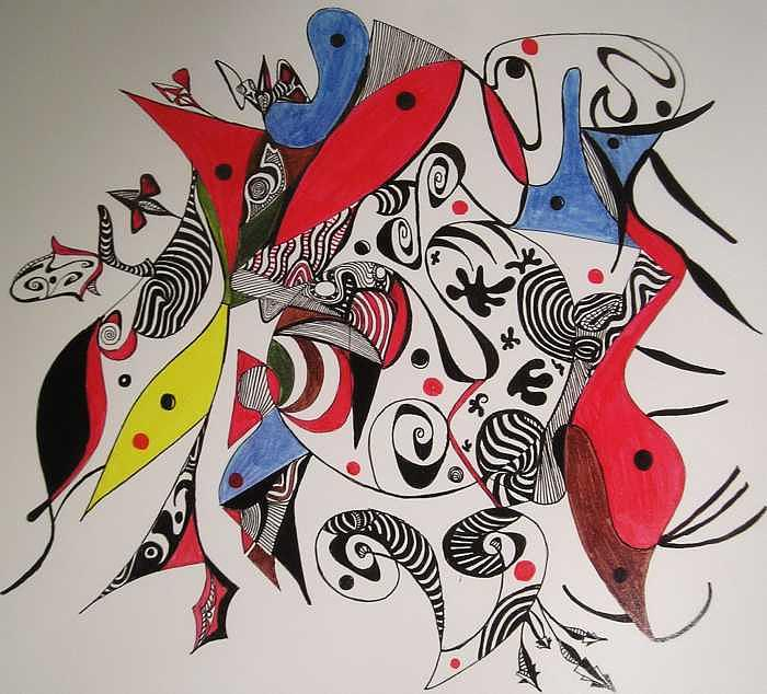 Pen Drawing - Rhapsody by George Cheskes