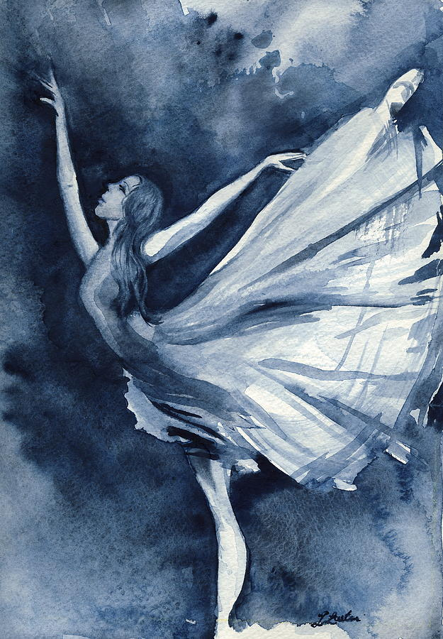 Ballet Painting - Rhapsody In Blue by L Lauter