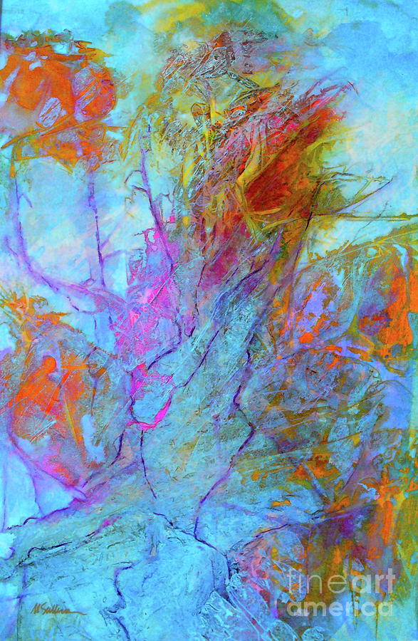 Abstract Painting - Rhapsody In Blue by Mary Sullivan