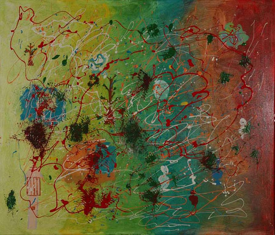 Rhapsody In Colour Painting by Harris Gulko