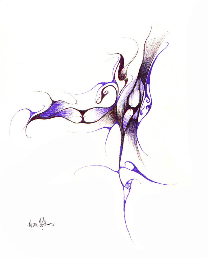 Abstract Drawing - Rhapsody Of Contortion  by Nathaniel Hoffman