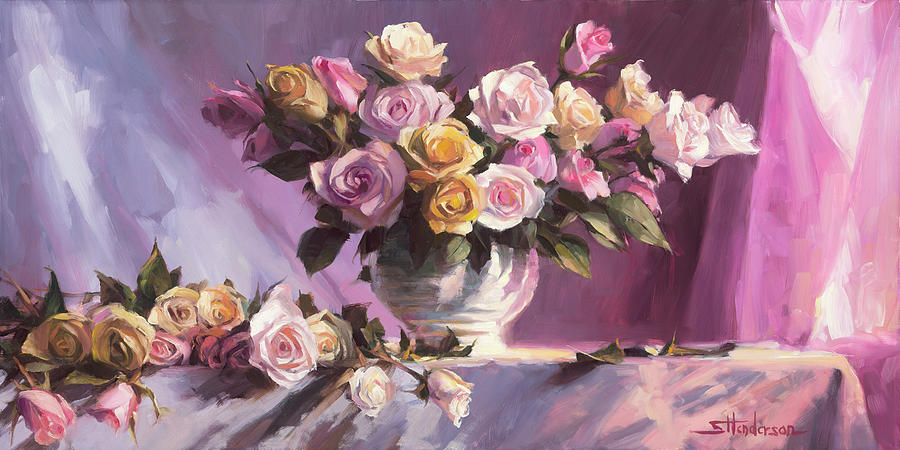 Rhapsody Of Roses Painting