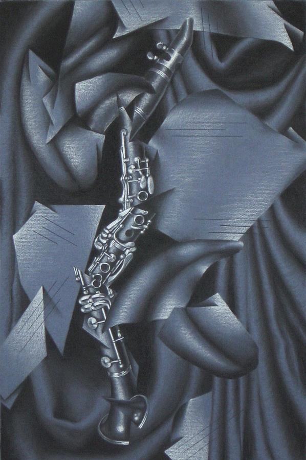 Music Drawing - Rhapsody by Rebecca Degenhardt
