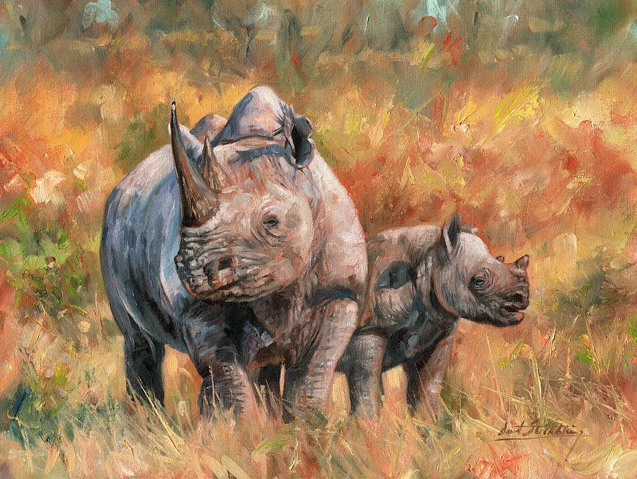 Painting Red Rhinos