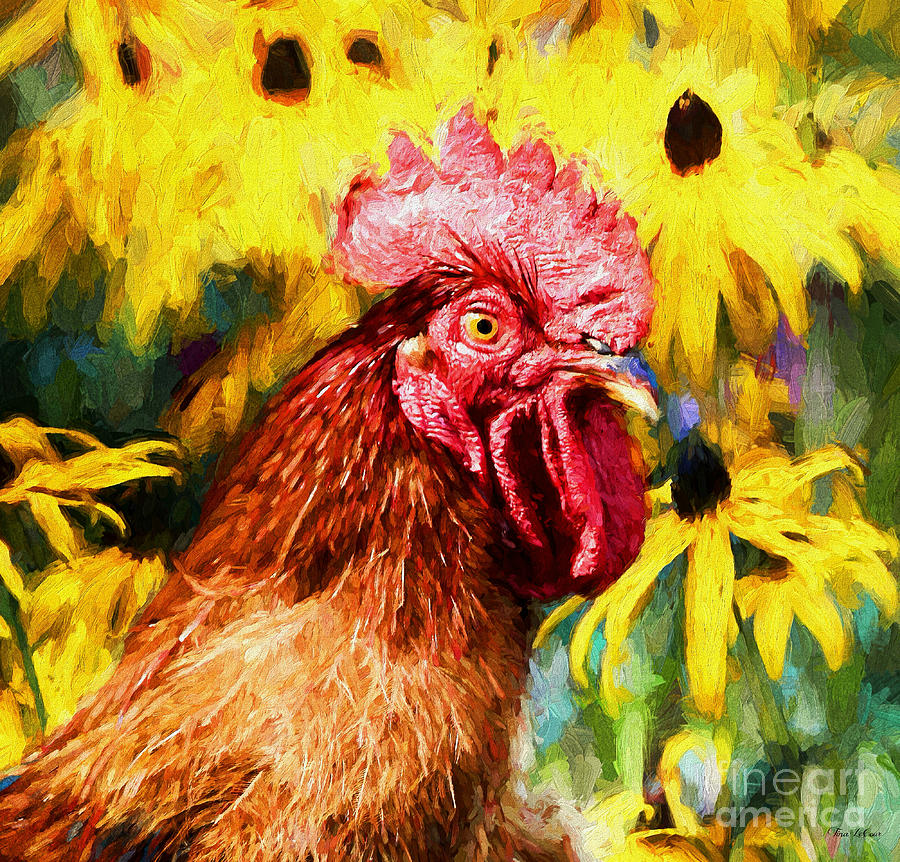 Rhode Island Red Rooster Painting