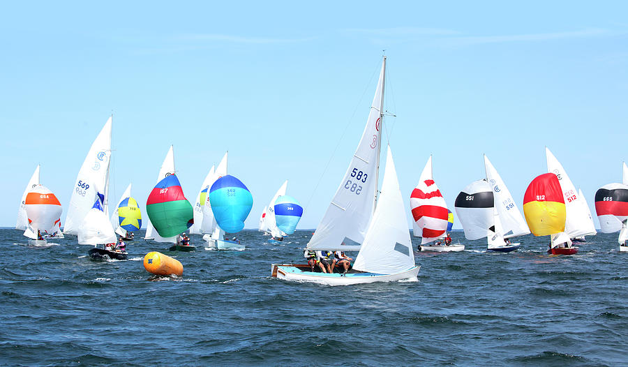 Rhodes Nationals Sailing Race Dennis Cape Cod by Charles Harden
