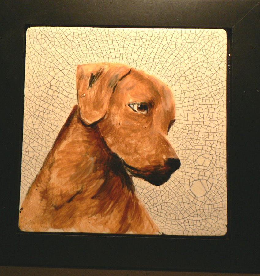 Dogs Painting - Rhodesian Ridgeback Trophy by Phillip Dimor