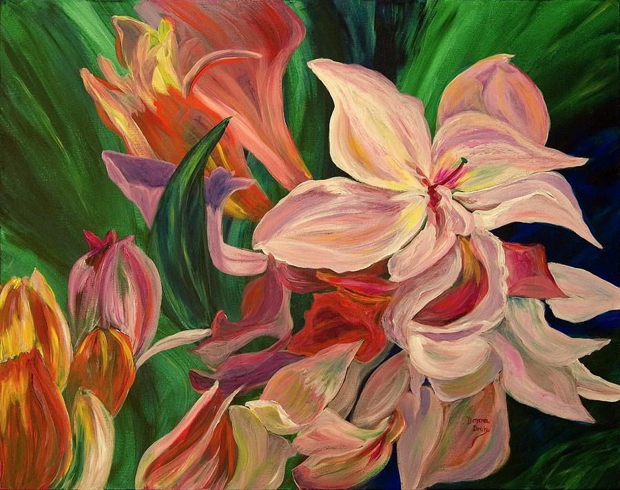 Rhododendron Painting - Rhododendron by Donna Drake