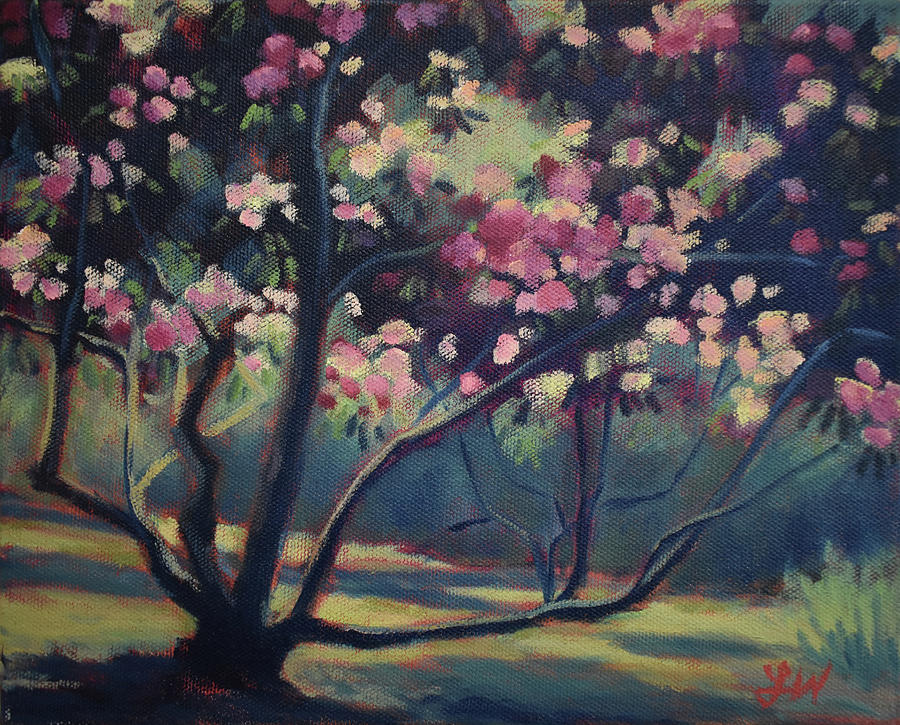 Rhododendron Painting - Rhododendron in Full Bloom by Lauren Waterworth