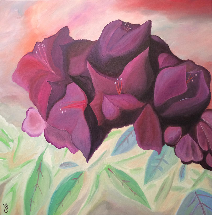 Rhododendron Painting - Rhododendron by Jonathon Hetts