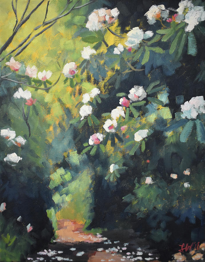 Rhododendron Painting - Rhododendron Passage by Lauren Waterworth
