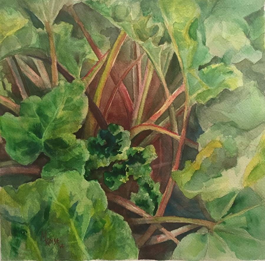 Rhubarb Painting - Rhubarb Spy by Michelle Roise