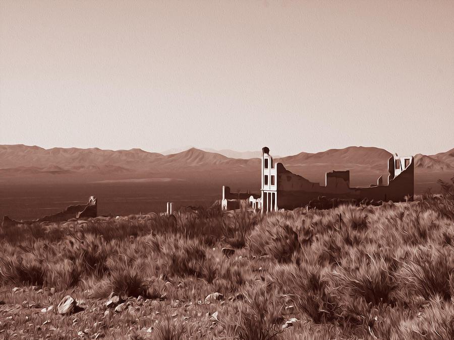 Death Valley Photograph - Rhyolite Dreams by Joe Schofield
