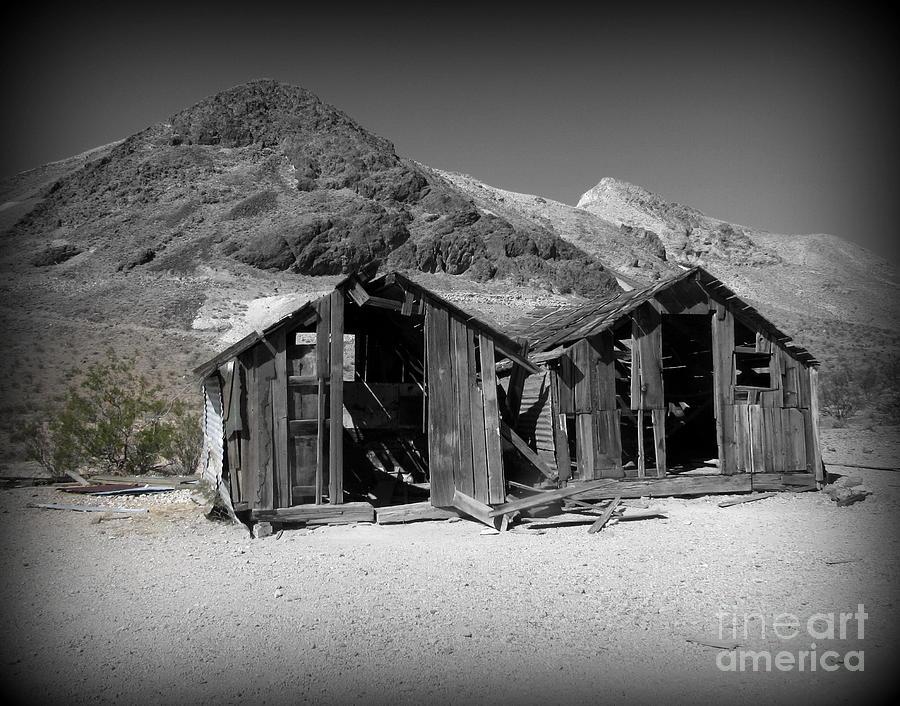Rhyolite Photograph - Rhyolite Ghost Town Shacks by Joy Patzner