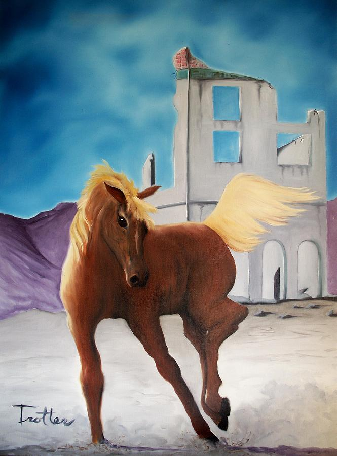 Rhyolite Pony Painting by Patrick Trotter