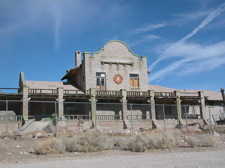 Landscape Photograph - Rhyolite Station by William Thomas