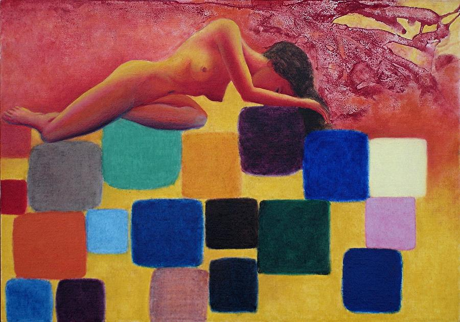 Nude Painting - Rhythm And Blocks by Michael  Price
