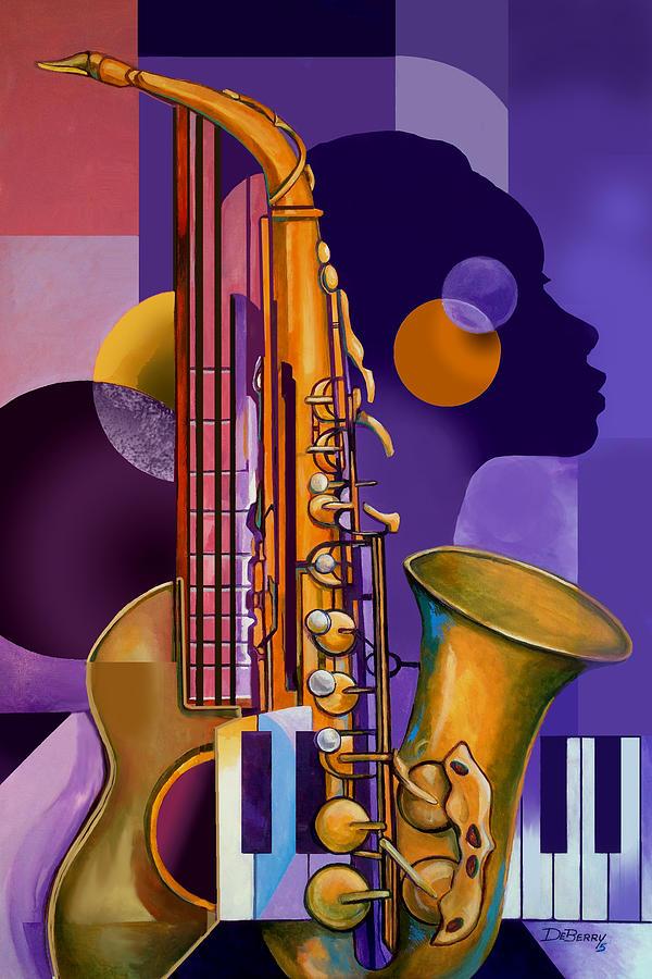 Rhythm Child Painting by Lloyd DeBerry