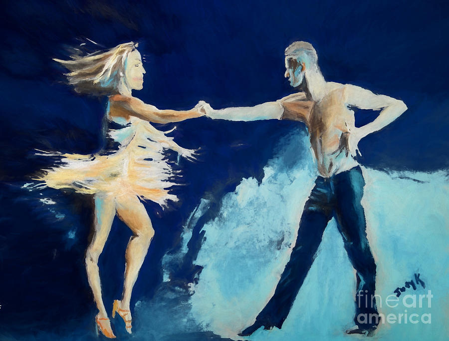 Rhythm Painting - Rhythm Is Going To Get You by Judy Kay