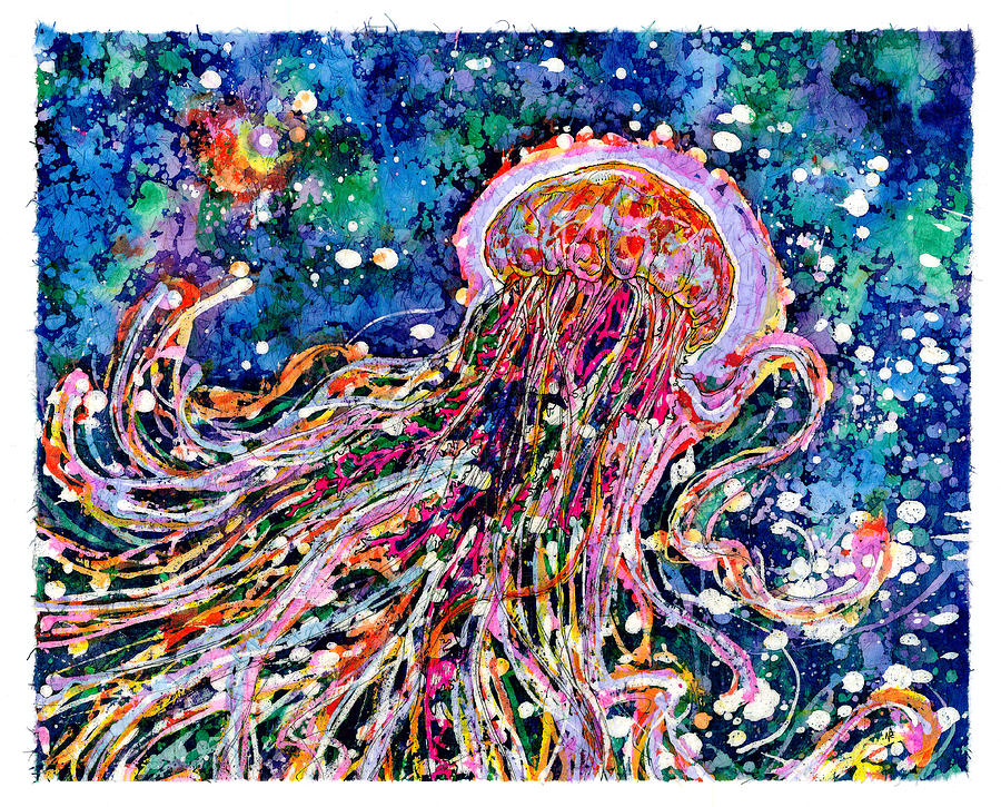 Jellyfish Painting - Rhythm Is Nothing by Nick Cantrell