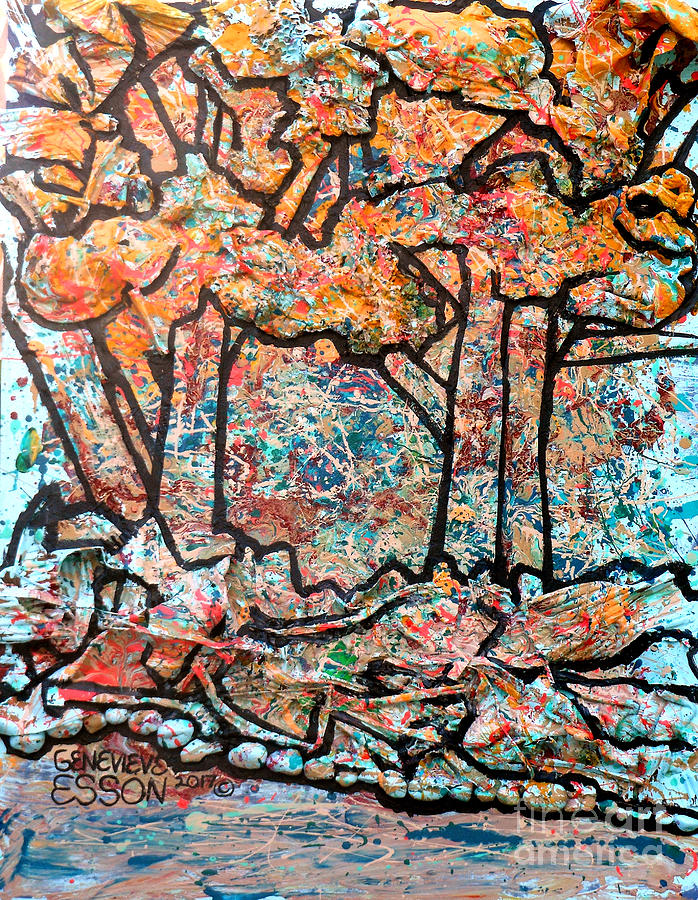 Trees Mixed Media - Rhythm Of The Forest by Genevieve Esson
