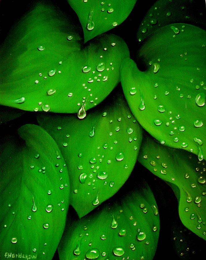 Leaves Painting - Rhythm of the Rain by Francine Henderson