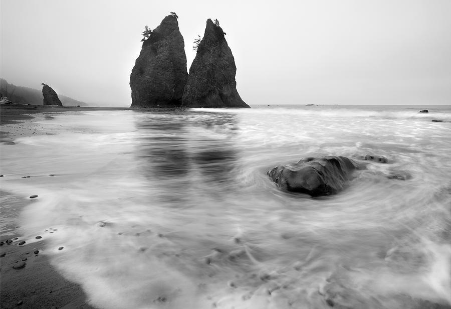 Beach Photograph - Rialto Reflections by Mike  Dawson