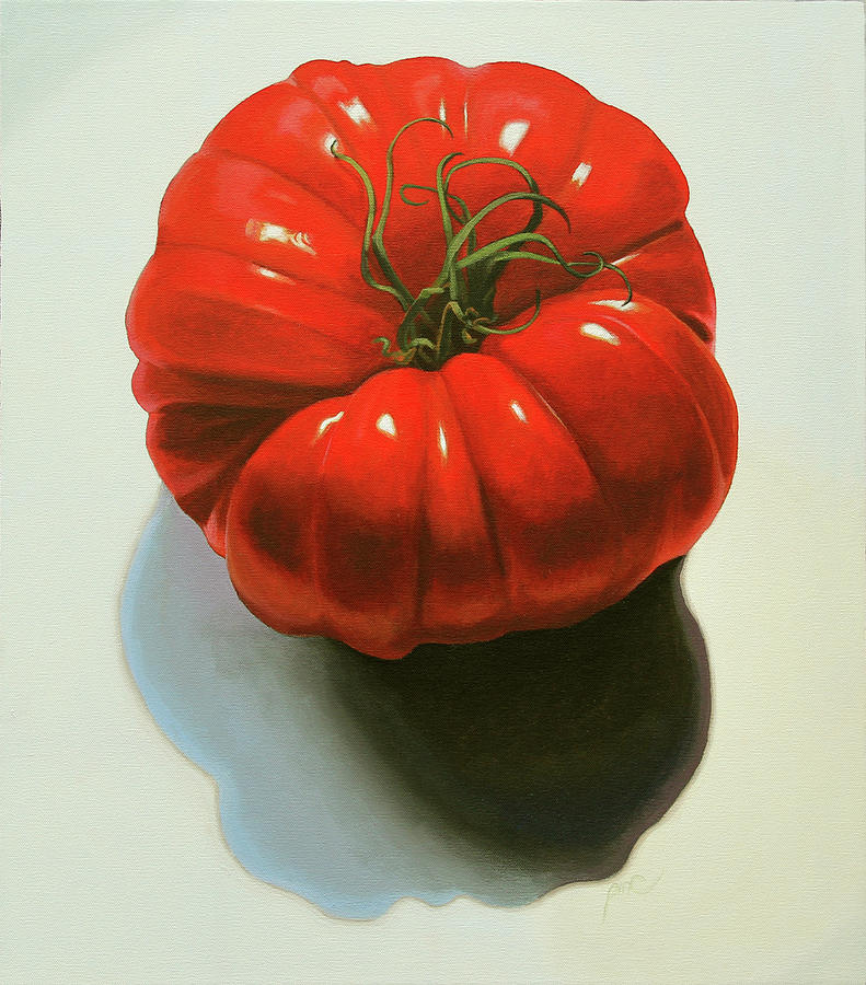 Fruit Painting - Ribbed Heirloom Tomato by Paul Chapman