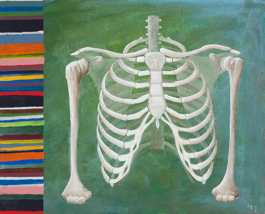 Bones Painting - Ribbing  by Sara Young