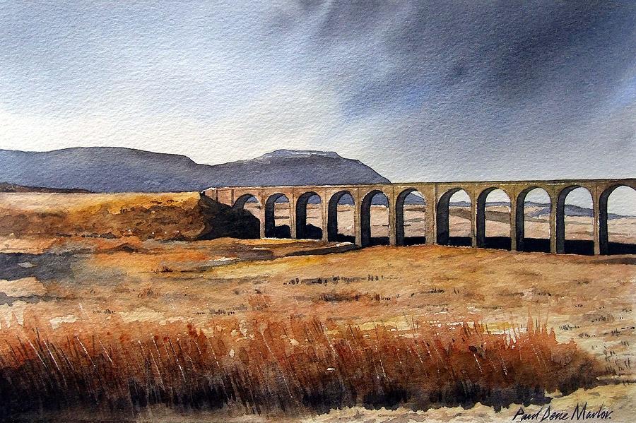 Landscape Painting - Ribblehead Viaduct by Paul Dene Marlor