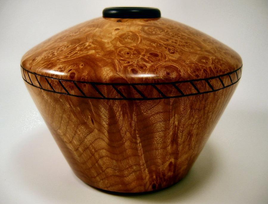 Wood Mixed Media - Ribbon Hollowform by Scott Blackman