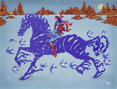 Freedom Painting - Ribbon Horse by Garrett Testi