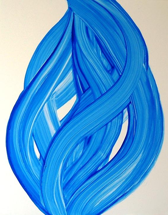 Ribbons of Love-Blue Painting by Manjiri Kanvinde