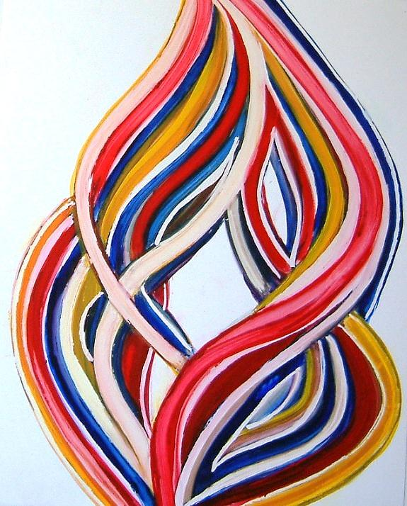 Ribbons of Love-Multicolour Painting by Manjiri Kanvinde
