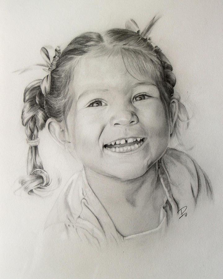 Portrait Drawing - Ribbons by Patrick Entenmann