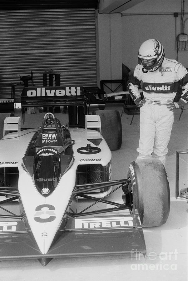 Riccardo Patrese Photograph - Riccardo Patrese. 1986 Spanish Grand Prix by Oleg Konin