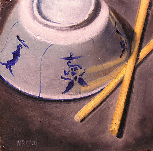 Rice Bowl II Painting by Richard Meister