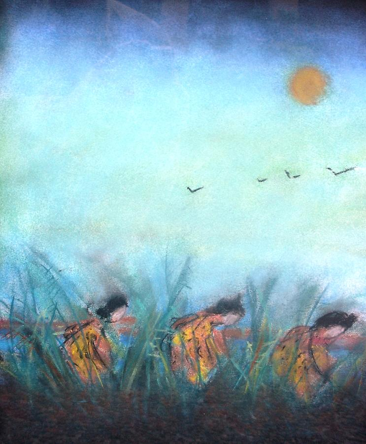 Painting Pastel - Rice Paddy by Thomas Armstrong