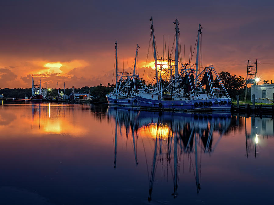 Rich and Vibrant Bayou Sunset by Brad Boland