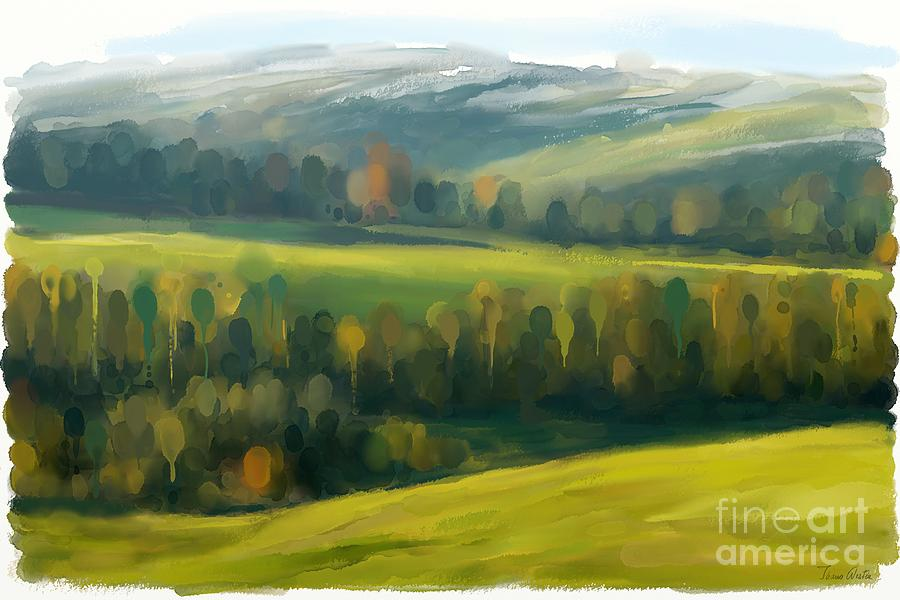 Painting Painting - Rich Landscape by Ivana Westin