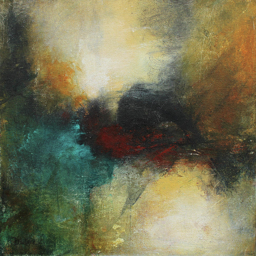 Earth Tone Abstract Painting - Rich Tones Abstract Painting by Patricia Lintner