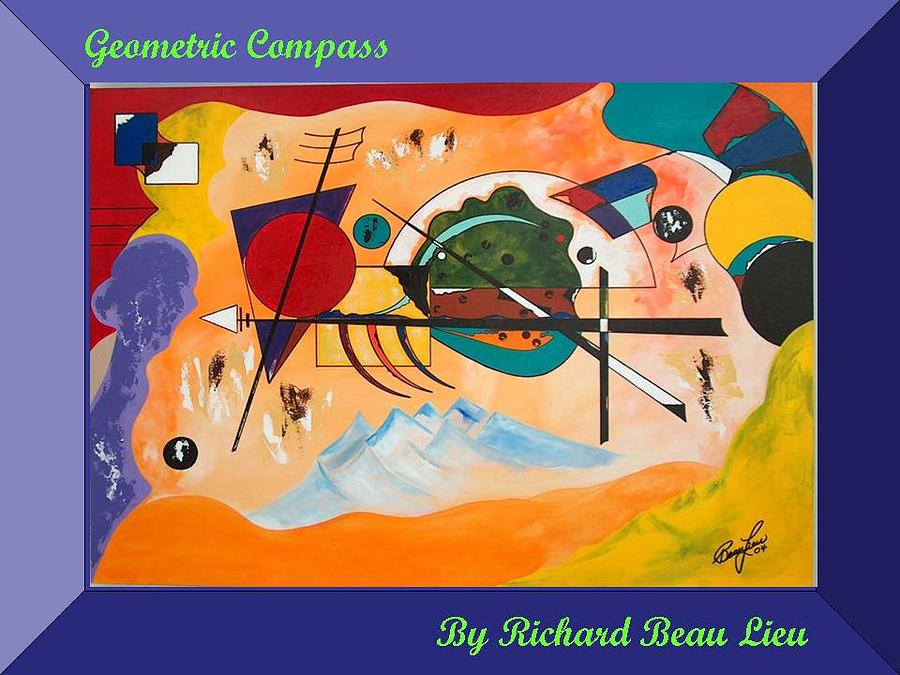 Painting Painting - Richard Beau Lieu by Geometric Compass