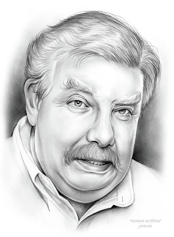 Actor Drawing - Richard Griffiths by Greg Joens