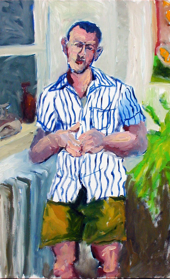 Portrait Painting - Richard In Summer Evening by Thom Duffy