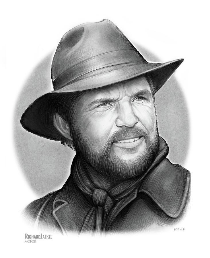 Actor Drawing - Richard Jaekel by Greg Joens