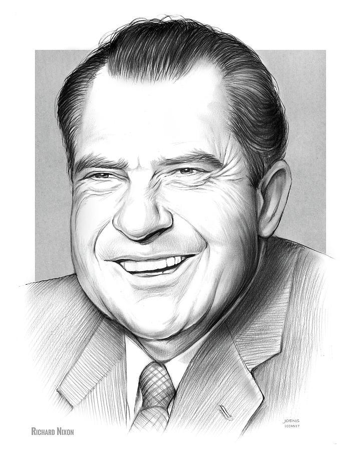 Richard Nixon Drawing