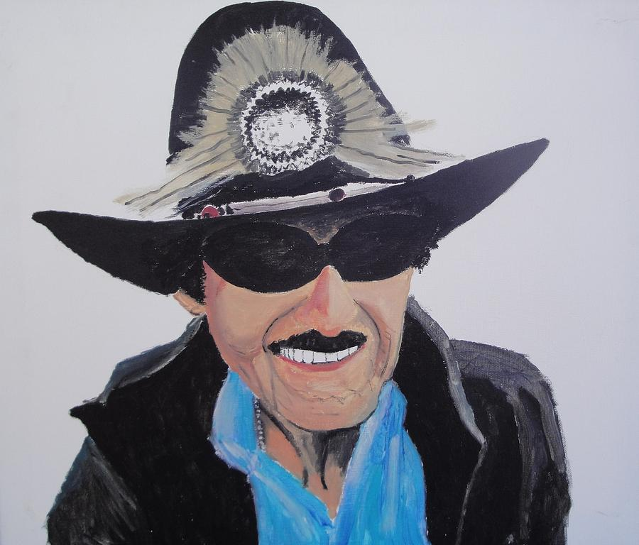 Portrait Painting - Richard Petty by Stephen Ponting