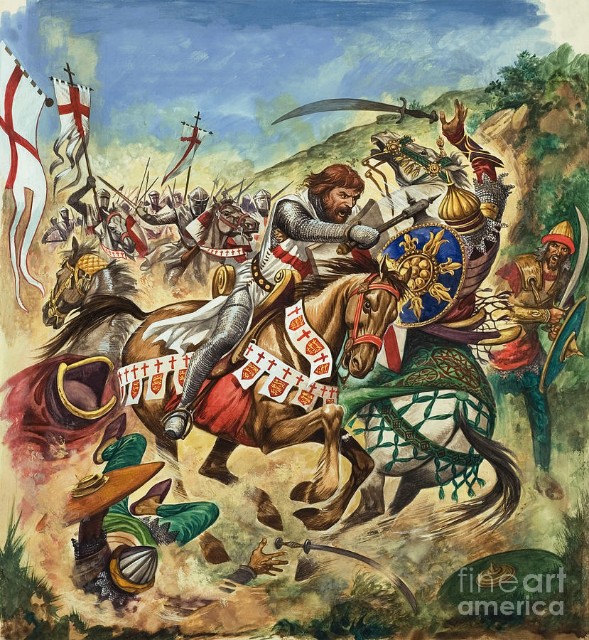 Richard Painting - Richard The Lionheart During The Crusades by Peter Jackson